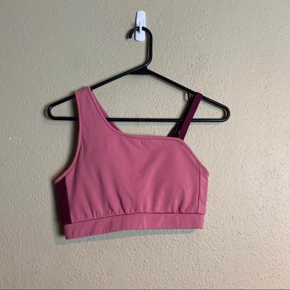 Gymshark pink asymmetric bra small xx19